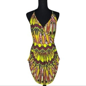 T-Bag Los Angeles Neon Carnival Dress Size Large